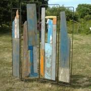 Lumière - 2004 - Bois de bateaux métal.
