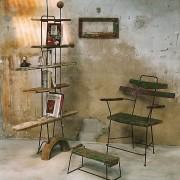 Le psy - 2004  - Bois de bateaux métal.