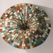 Frontière - 2018 - fragments de bois de bateaux, fil à thon