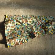 Adieu vat'- 2018, fil à thon, fragments de bateaux - 2,3 x 1,7 m