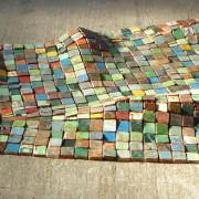 A dieu vat' - 2016 - fragments de bois de bateaux  fil à thon.
