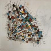 Tokihamatarete - 2020, métal, fragments de bois de bateau - 1,6 x 1,4 m