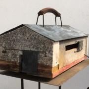 Maquette Bagage -2017- zinc, métal, platre, bois, cuir, lumière - 40 x 25 x 25 cm
