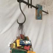 Casse-tête - 2020 -  métal, fragment de bateaux - 1,3m x 1m x 25 cm